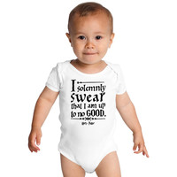 Harry Potter Up To No Good Quotes Baby Onesuits