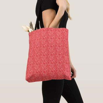 Indian Red Ornaments All-Over-Print Tote Bag