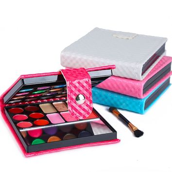 32 Colors Small Makeup Eyeshadow Palette Eye Shadow Professional with  Cosmetic Leather Case 4 Pattern top quality