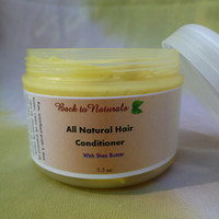 All natural, handmade, vegan hair moisturizer - hair conditioner for curly and coarse hair with shea butter - chemical free hair treatment
