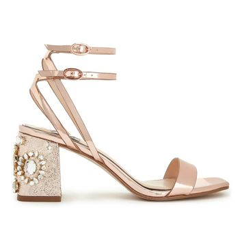CHARM Rose Gold Sandals | Missselfridge
