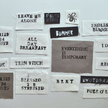wordy patches