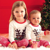 Christmas Kids Baby Girl Boy Clothes Pajamas Set Sleepwear Nightwear Chrismas Girls Outfits Costume