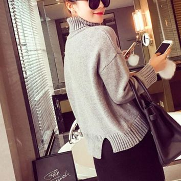ESBONS Fashion Thickened Turtleneck pullover Sweater