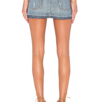 GRLFRND Claudia Denim Mini Skirt in Baby Come Back | REVOLVE