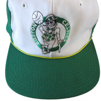 vintage BOSTON CELTiCS snapback trucker mesh hat cap NBA green
