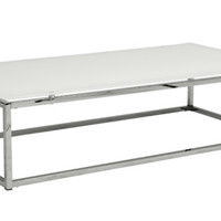 Gardner Coffee Table WHITE TOP/CHROME
