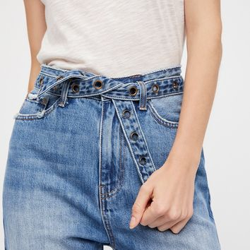 Free People Buckle Up Jean