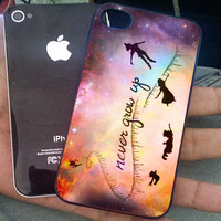 Disney New Peter Pan Quote for iPhone 4/4s 5 5s 5c, Samsung S2 S3 S4, Htc One, Htc One X, iPod 4, iPod 5 Case