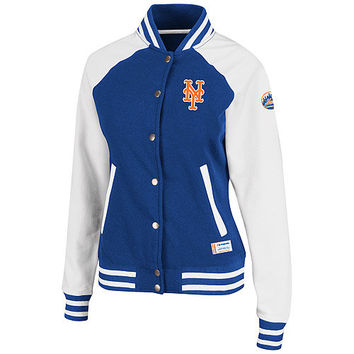 New York Mets Women's Pumped Up Varsity Jacket by Majestic Athletic - MLB.com Shop