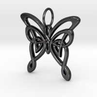 Celtic butterfly keychain by emerald_of_oz on Shapeways