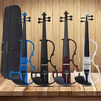 DCCKFS2 4/4 Acoustic Violin Basswood Panel Stringed Instruments Fiddle With Violin Case Bow Headphone Rosin Aluminum Alloy Strings