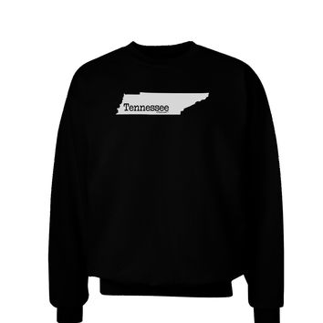 Tennessee - United States Shape Adult Dark Sweatshirt by TooLoud