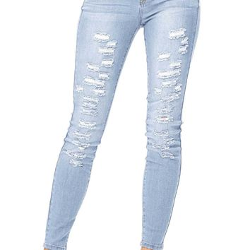 Scattered Mid Rise Skinny Jeans