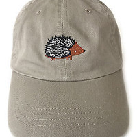 Hedgehog embroidered baseball cap