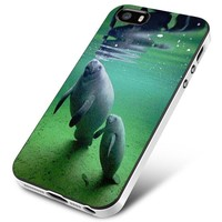 Manatee (mom and baby) iPhone 5 | 5S | 5SE Case Planetscase.com