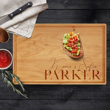 Personalized Cutting Board   FREE PRIORITY SHIPPING   Engraved Cutting Board, Wedding Gift, Housewarming, Anniversary Gift, Christmas Gift