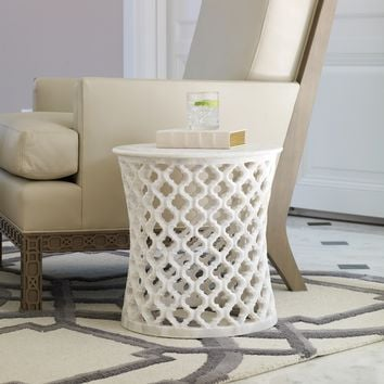 Global Views Marble Arabesque Side Table
