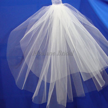Veils, short veils, two layer veils, raw edge veils, Wedding veils