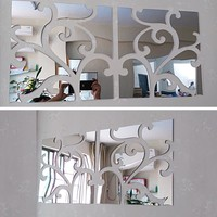 Stickers  Decor  Europe  Acrylic  Mirror  Sticker  Adesi