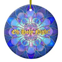 Oh Holy Night Star Fractal Tree Ornament