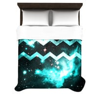 "Alveron ""Aqua Galaxy Chevron"" Lightweight Duvet Cover"