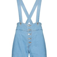 Judy Suspender High Waisted Shorts