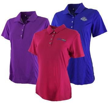 2-Pack adidas Women's Logo Overrun Polo Shirt Assorted Colors