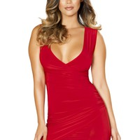 Mini Dress with Overlapping Scrunch Detail