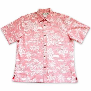 Isle Escape Red Hawaiian Reverse Shirt