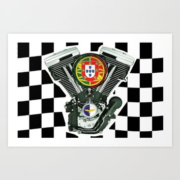 Portuguese Checker Board. Art Print by Tony Silveira