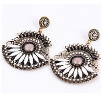 New earrings female Bohemian fashion personality retro earrings exquisite high earrings jewelry