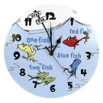 Trend Lab Dr. Seuss One Fish Two Fish Wall Clock | Meijer.com