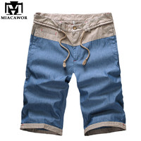 Plus Size Men Shorts Summer Cotton Linen Shorts Casual Men Beach Shorts Fashion Brand Clothing Free Shipping MDK098