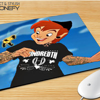 Peter Pan And Tinkerbell With Tattoo Mousepad Mouse Pad|iPhonefy