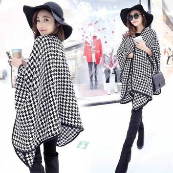VONESC6 2016 Streamlined Blanket Coat Cashmere Multipurpose Splicing Cape Women's Shawl Star Show Coat Oversized Poncho Scarf Wraps JQ26