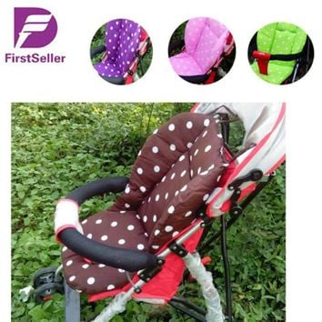 2016 New Thick Colorful Baby Infant Stroller Car Seat Pushchair Cushion Cotton Cover Mat Lovely Cute Design Baby Seat Cushions