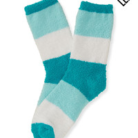 LLD Fuzzy Colorblock Crew Socks