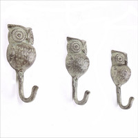 Iron Shirt Creative Luxury Owl Hook Hanger [6283580102]