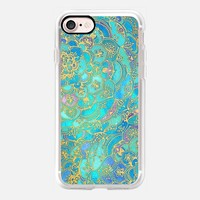 Sapphire & Jade Stained Glass Mandalas iPhone 7 Case by Micklyn Le Feuvre | Casetify