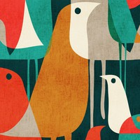 Birds of a Feather Window Curtain Panels