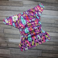 Feathers Multi-color One Size Cloth Pocket Diaper