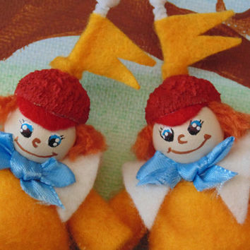 Tweedle Dee and Tweedle Dum Miniature Character Art Dolls SET OF TWO