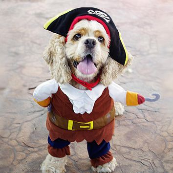 Funny Pet Dog Costumes for Small Dog Clothes Puppy Clothing Cat Outfit Pajamas Coat Hoody Pirate Pet Apparel Disfraz de Perro 35