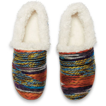 MULTI WOOL STRIPE WOMEN'S SLIPPERS