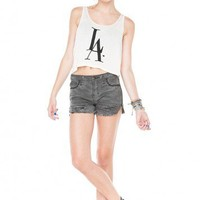 Brandy ♥ Melville |  LA Love Embroidery Tank - Graphic Tops - Clothing