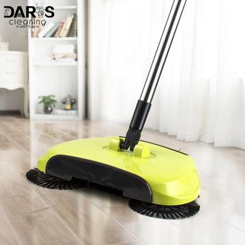 Automatic Hand Push Household Lazy Sweeper Broom 360 Degree Rotating Cleaning Sweeping Tool Without Electricity