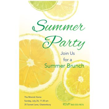 Lemon & Lime Invitations