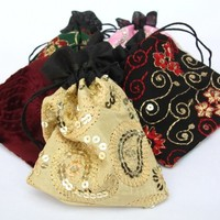 Jewelry Gift Bags Supply, Indian Fabric Pouches Set of 50 Large 4x5