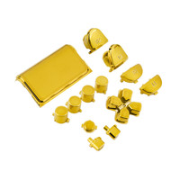 Hot New Full Chrome Button Replacement Mod Game Kit for Playstation 4 PS4 Controller Gold Color